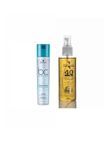 Bonacure Bonacure Hyaluronic Nemlendirici Şampuan 250 Ml+Biomega 40 Bitkili Doğal Saç Bakım Yağı 150 Ml Renksiz